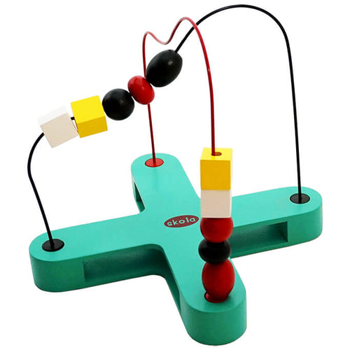 Skola Toys - Ant Maze - Twist and Turn the Beads on the Maze Chase - Educational Wooden Learning Toy for 2 to 4 Year Old