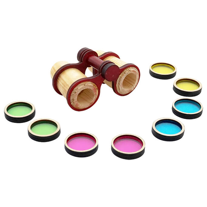 Skola Toys - Bino Colours - See the World in Colour Shades - Wooden Learning Toy for 3 to 5 Year Old