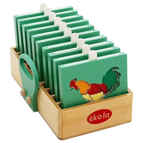Skola Toys - Bird Shadows - Pair the Birds with the correct outline - Wooden Educational Learning Toy for 3 to 5 years