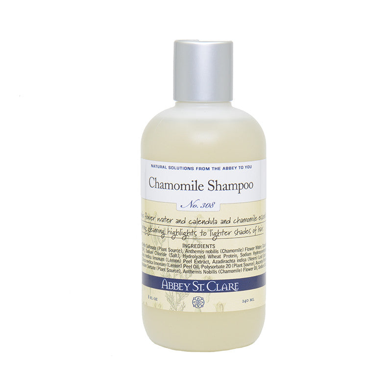 Chamomile Shampoo for Light Hair - Organic chamomile essential oil highlights.