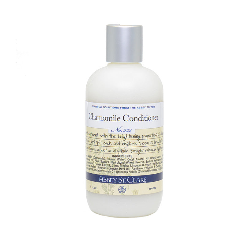 Chamomile Leave-In Conditioner for Light Hair --Organic chamomile essential oil highlights.