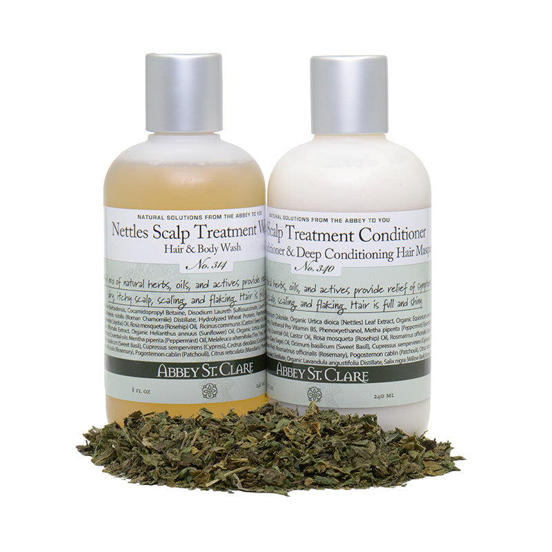 Nettles Scalp Treatment Shampoo & Body Wash for healthy scalp and hair. No itch. No flakes. Fresh smelling hair.