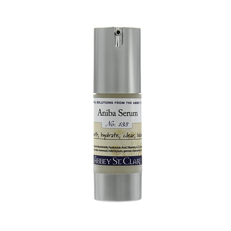 Aniba Serum for distressed and blemished skin and redness.