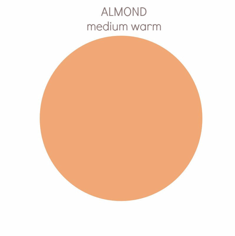 Almond - medium w/ yellow undertone