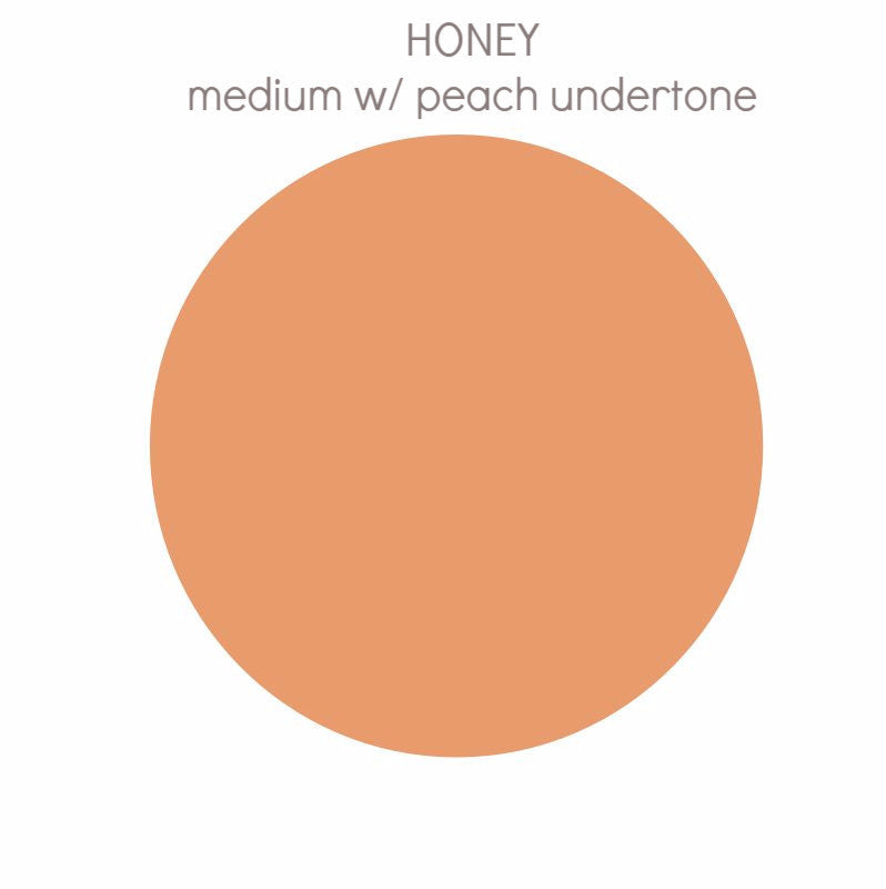 Honey -  medium w/ peach undertone