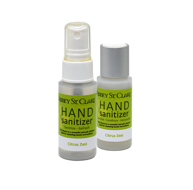 Hand Sanitizers: All natural conditioning formulas. Free gift available.