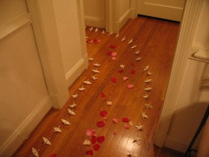 Lead her to say YES with a trail of rose petals.