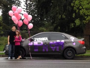A moving promposal - literally.