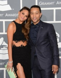 John Legend posing for the red carpet with the sexy