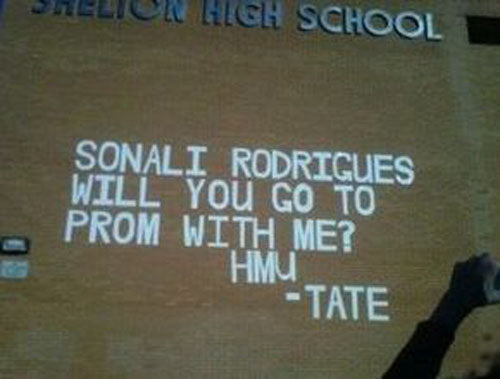 James Tate got banned from his school's prom because of this larger than life promposal.