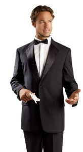 Look elegant and sophisticated with the classic black tux - you can snag this one for less than $100.