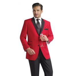 Looking to stand out at prom? Rock the dance floor with a red tuxedo jacket!