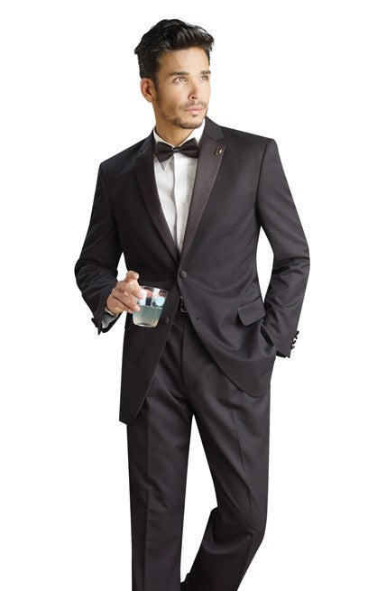 Ready to rock prom? Put on a slim fit tuxedo.