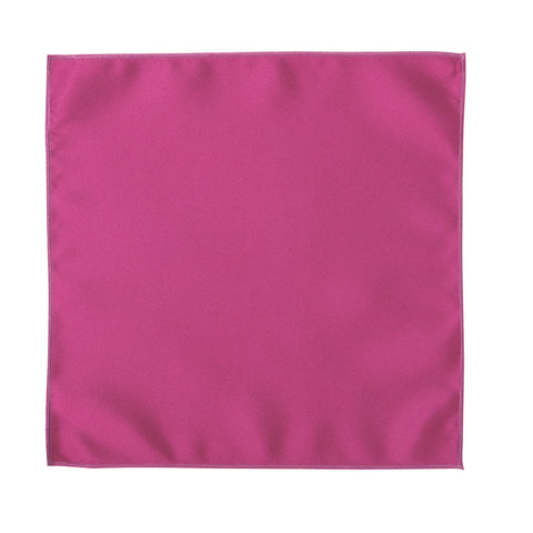 Deluxe Satin Formal Pocket Square (Hot Pink)
