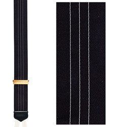 Ascot Satin Formal Suspenders with Gold Clinch: Black