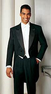 Men's Formal Tails - Peak Tailcoat - Formal Trousers Available