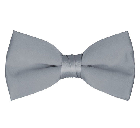 Men's Classic Pre-Tied Formal Tuxedo Bow Tie - Silver