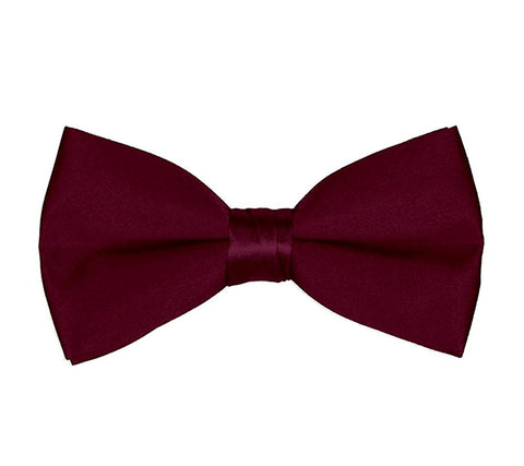 Men's Classic Pre-Tied Formal Tuxedo Bow Tie - Burgundy