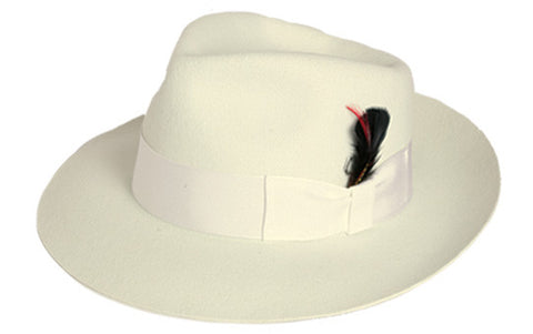 "Ivory Wool ""Zoot Suit"" Hat"