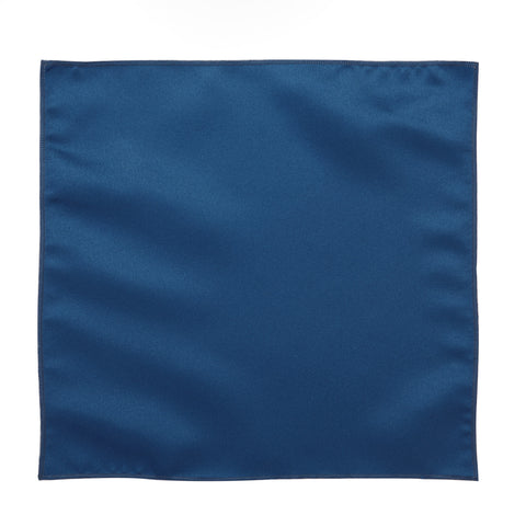 Deluxe Satin Formal Pocket Square (Royal Blue)
