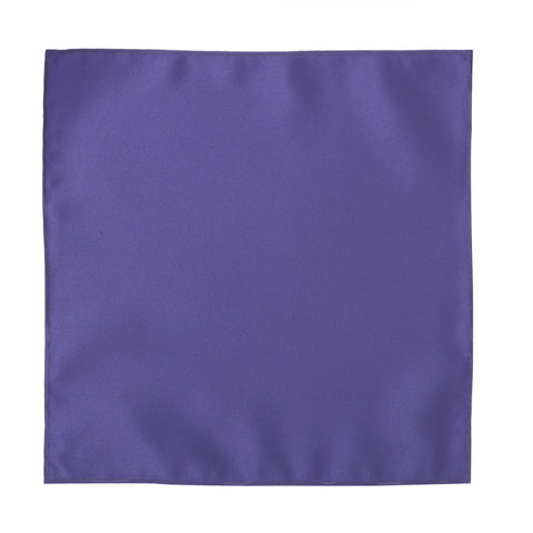Deluxe Satin Formal Pocket Square (Purple)