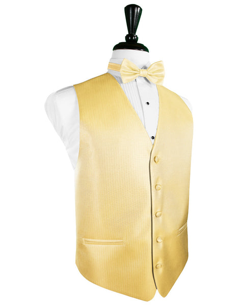 Buttercup Herringbone Tuxedo Vest and Tie Set