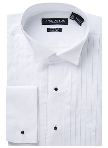 Men's Wing Tip Modern Fit French Cuff Tuxedo Shirt