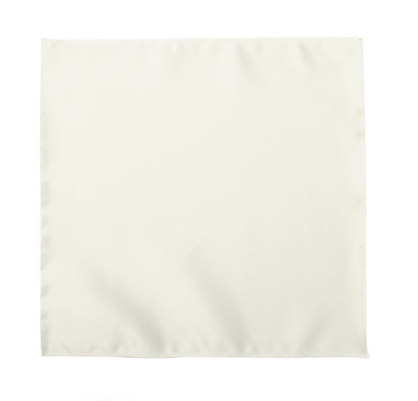 Deluxe Satin Formal Pocket Square (Ivory)