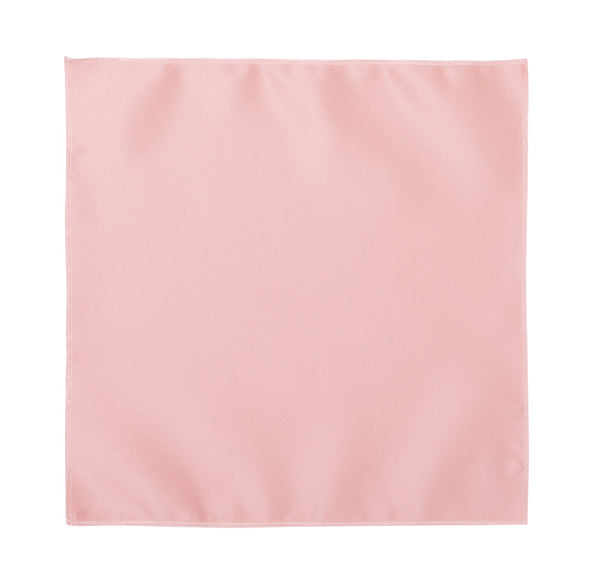 Deluxe Satin Formal Pocket Square (Light Pink)