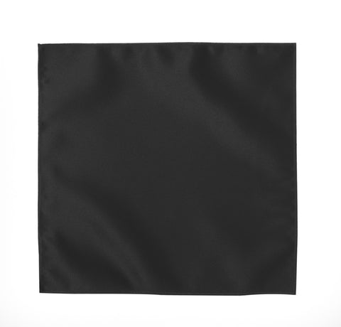 Deluxe Satin Formal Pocket Square (Black)