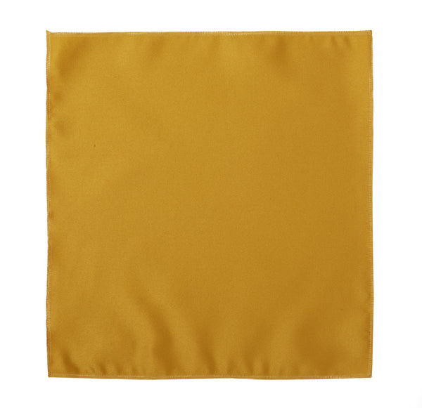 Deluxe Satin Formal Pocket Square (Gold)