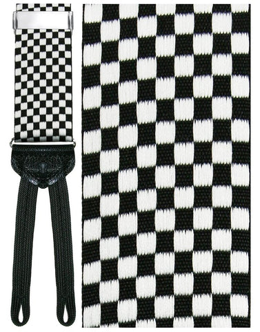 Black and White Checkerboard (Bergamo) Formal Braces