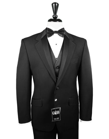 2 Button Notch (Vogue) Tuxedo by Cardi with Satin Trim Lapel