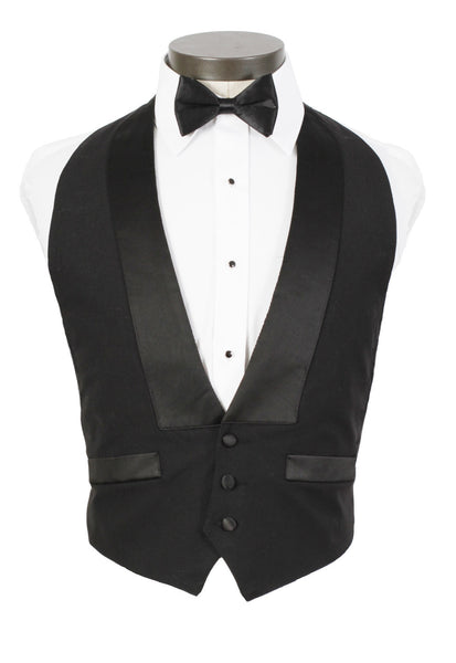 Men's Backless 3 Button Tuxedo Vest - 100% Wool