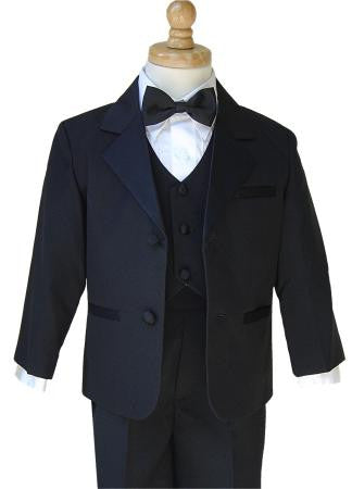 Boys Tuxedo Package - Includes Tuxedo, Shirt, Vest & Accessories and Tie Set