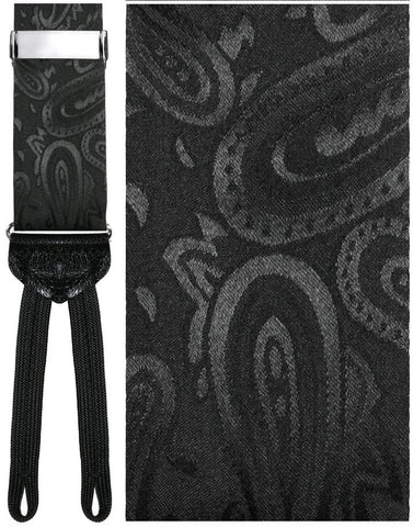 Black (Calabria) Tapestry Silk Formal Braces
