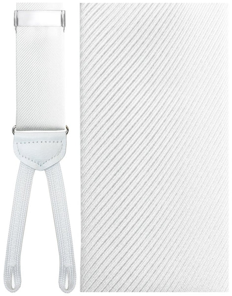 White (Firenze) Silk Formal Braces