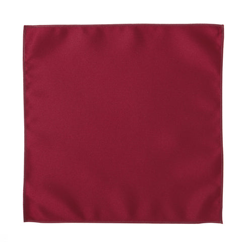 Deluxe Satin Formal Pocket Square (Red)