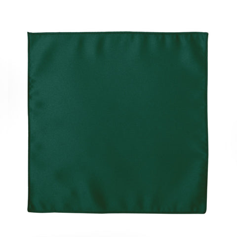 Deluxe Satin Formal Pocket Square (Hunter Green )