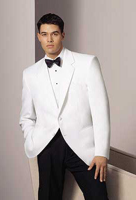 White SlimFit Dinner Jacket - 2 Button Notch Lapel