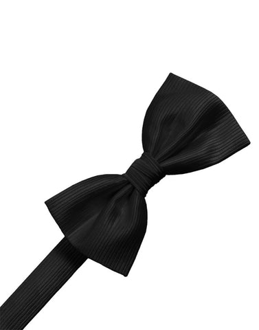 Black Faille Silk Formal Bow Tie