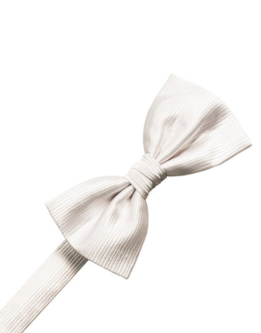 Ivory Faille Silk Formal Bow Tie