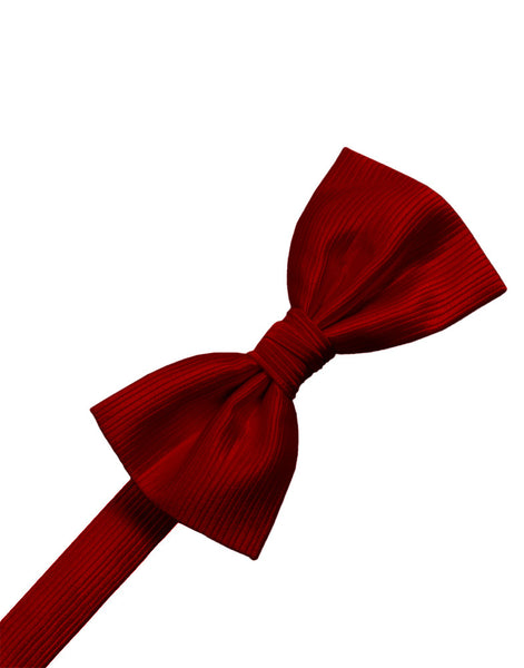 Red Faille Silk Formal Bow Tie