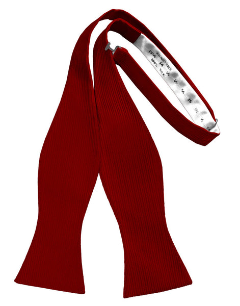 Red Faille Silk Self Bow Tie