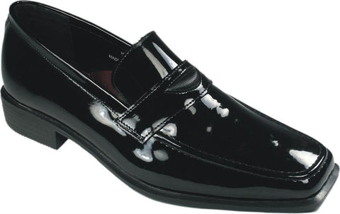 Black (Newport) Slip On Style Tuxedo Shoes by Jean Yves