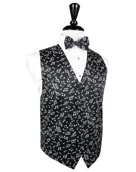 Musical Notes Tuxedo Vest and Tie Set by Cardi