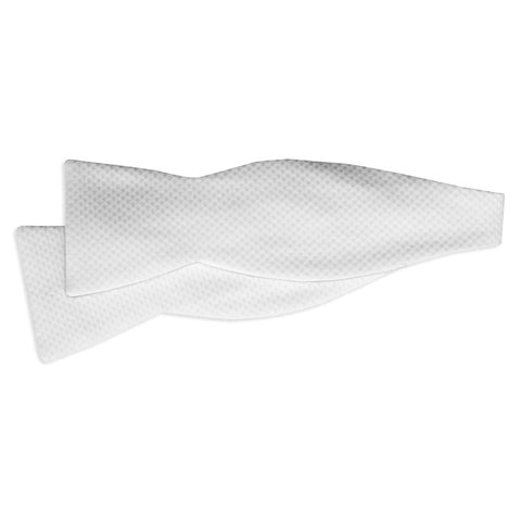 Men's White Pique SELF-TIE Formal Bow Tie