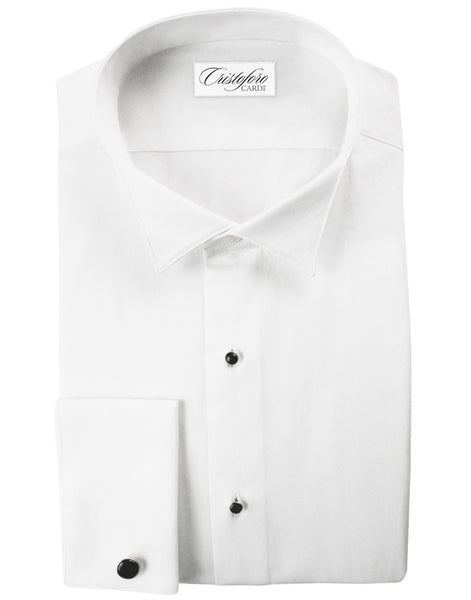 White Wing Collar Big & Tall Tuxedo Shirt - NON PLEATED - Made from 100% Cotton
