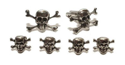 Skull and Bones Cufflinks and Studs Set - Style #FS5666