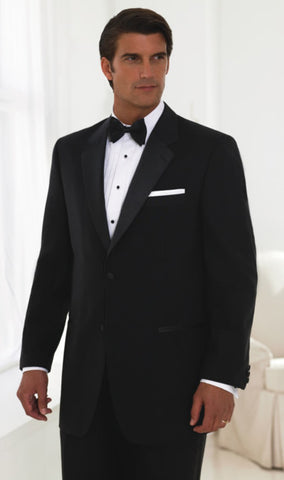 2 Button 100% Wool Tuxedo - Notch Lapel